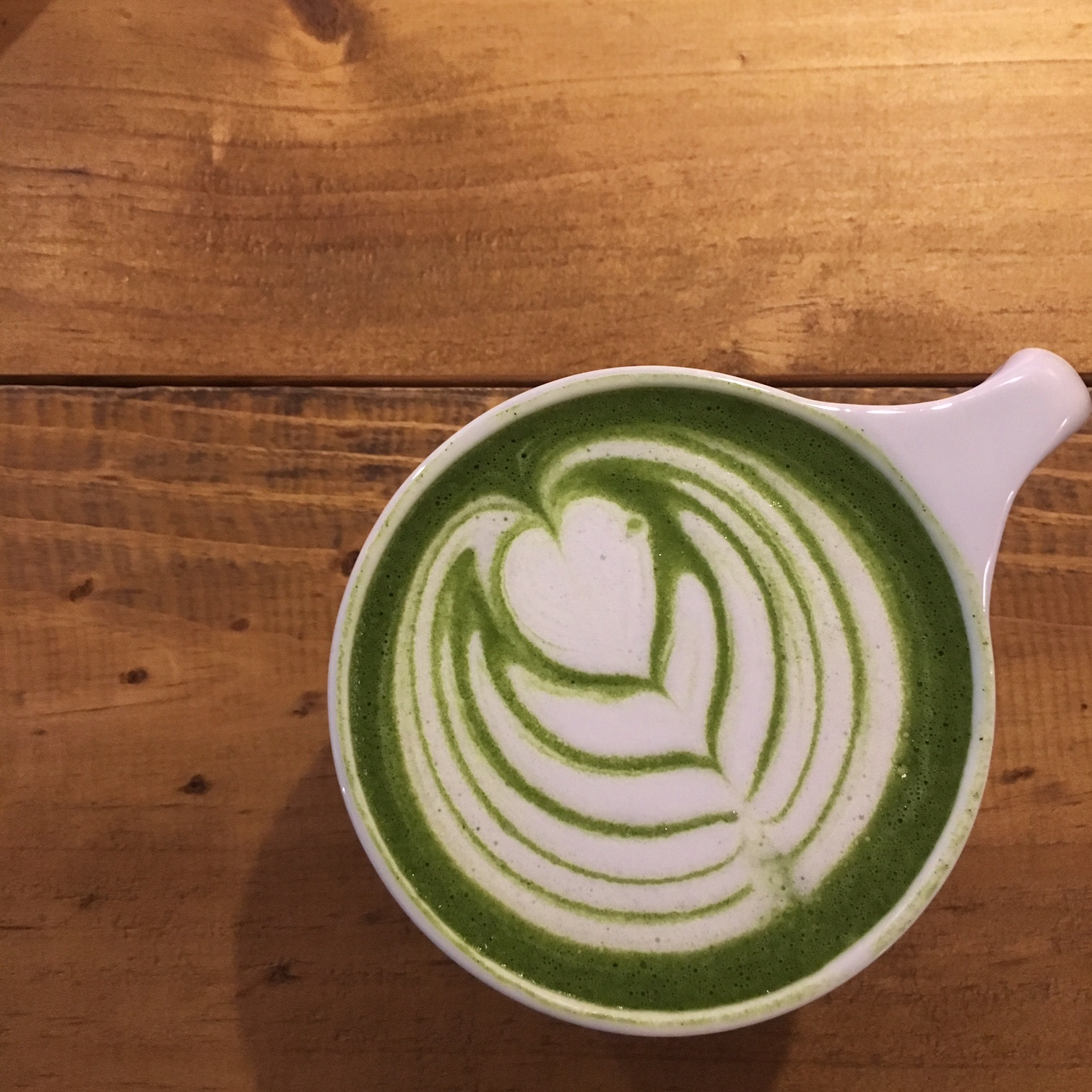 Matcha latte de Hidden Cafe, Barcelona