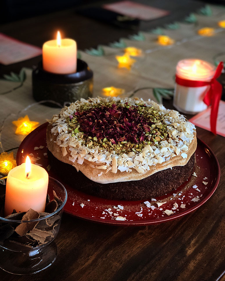 Chai Spiced Carrot Cake with Dates and Coconut