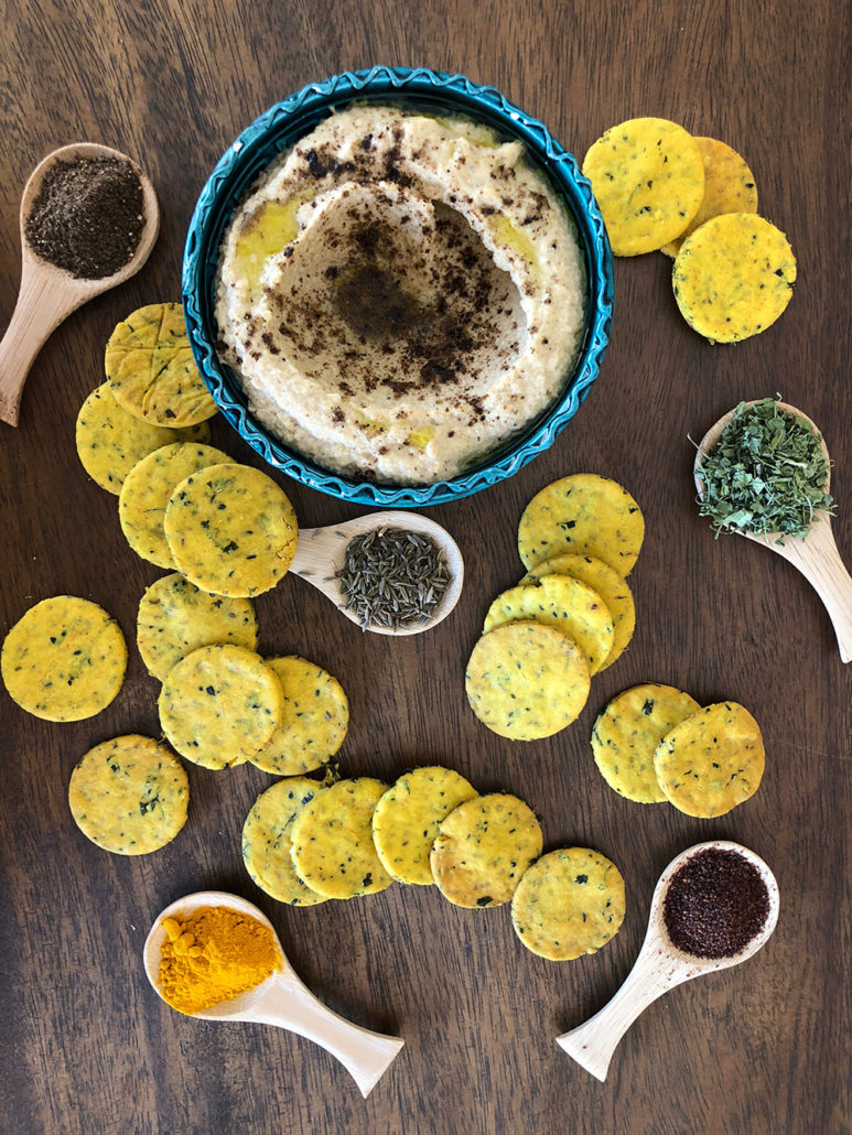 Cauliflower Hummus & Chickpea Flour Crackers Recipes